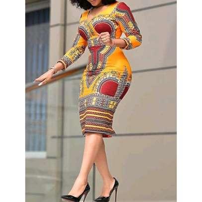 African Print Dress image 1