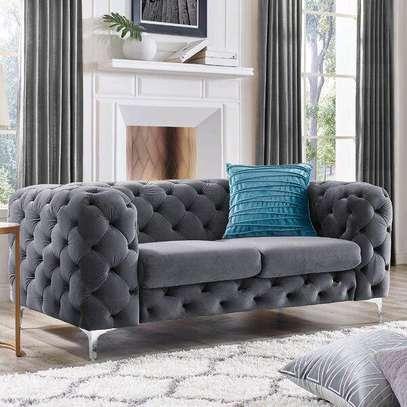 Grey three seater sofa for sale in Nairobi Kenya/Modern chesterfield sofas image 1