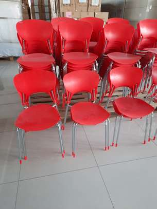 Armless Stackable PVC Chairs image 3