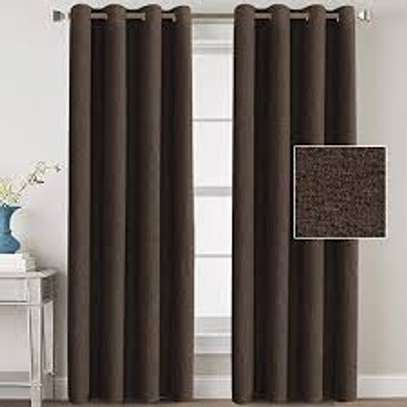 Linen Brown Curtains image 2