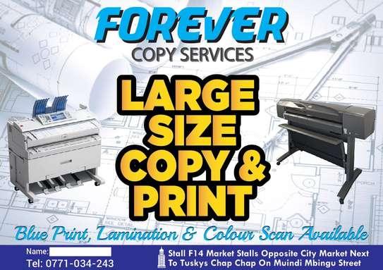 Architectural Drawings Printing, Blue-Print Printing