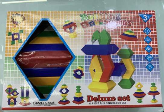 Kids/Children Deluxe Set 30 Pc Building Block Set Educational Toy image 2