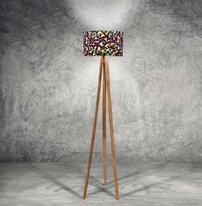 Trio Floor Lamp – Kitenge Shade image 1