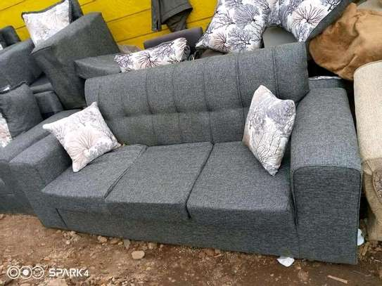 Ready Made Simple Quality 3 Seater Sofa image 1