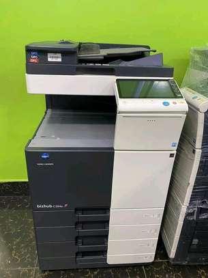 Konica minolta bizhub c454e colored photocopier image 1