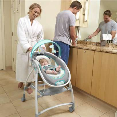 Baby InGenuity 2in1 InReach Mobile convertible lounger & bouncer with wheels & MP3 image 6