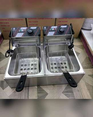 Nunix 6L+ 6L Commercial Double Stainless Steel Deep Fryer image 2