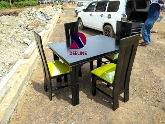 Black 4 Seater Dining Table. image 13