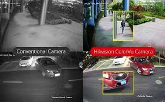 4 CCTV 2MP ColorVu camera complete package + INSTALLATION image 4