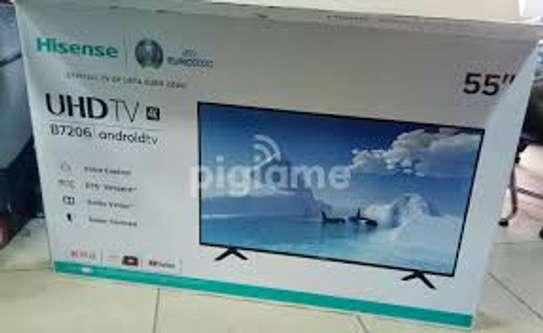 "Hisense 55"" 4K UHD ANDROID TV,VOICE CONTROL,WI-FI,NETFLIX,YOUTUBE-55B7206UW image 1"