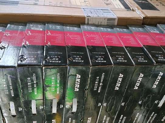 22 Inch Digital Akira Tv with Free Inbuilt Decoder  Thin Slim Tv Brand New image 1