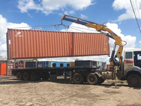 Container transport and crane trucks for hire image 1
