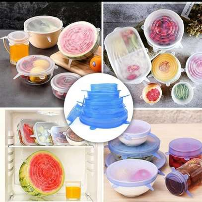 6pc Silicone Food Covers image 1