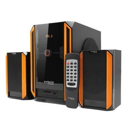 V328 2.1CH USB Multimedia Speaker Subwoofer Black&Yellow image 1
