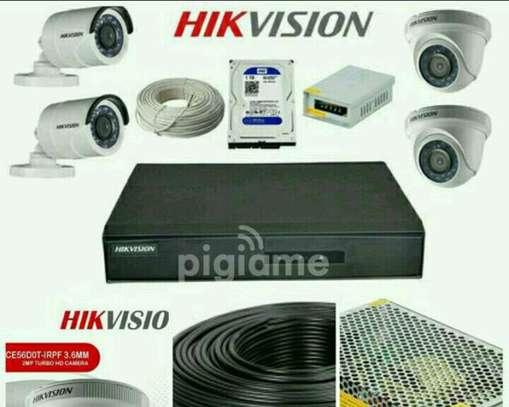 4 CCTV CAMERA FULL SET image 1