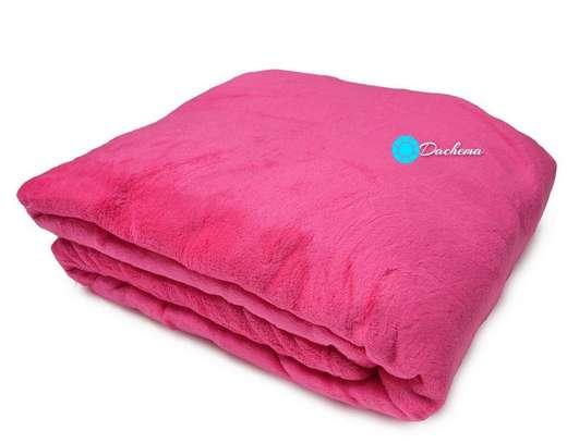 pink fleece throw bankets image 1