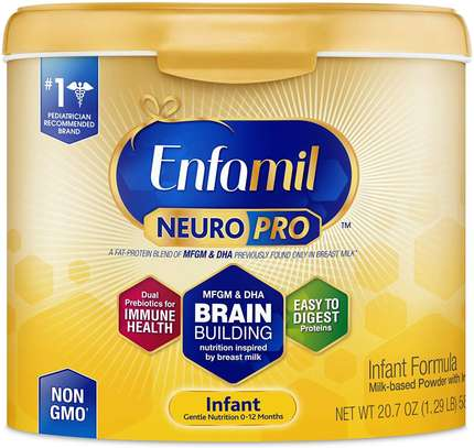 Enfamil NeuroPro Infant Formula - Brain Building Nutrition Inspired by Breast Milk - Reusable Powder Tub image 1