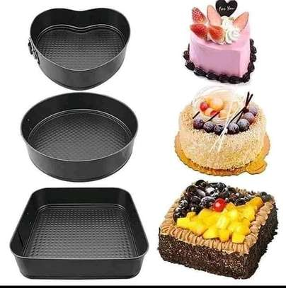 3 in 1 Cake mould Tins image 1