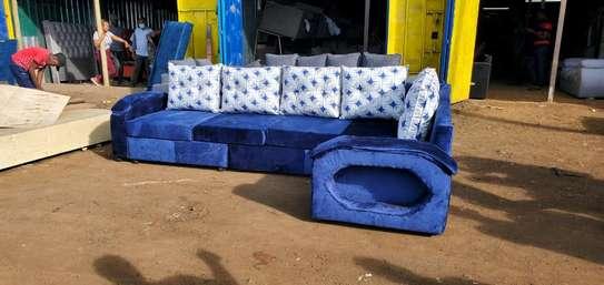 New blue corner sofa image 1
