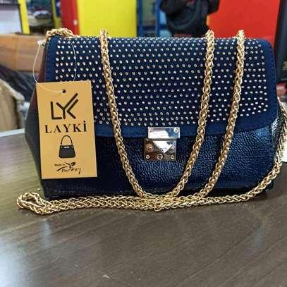 Blue designer turkey sling bags image 1