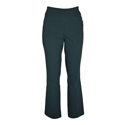Teal Flared Leg Pull On Classic Pants image 1