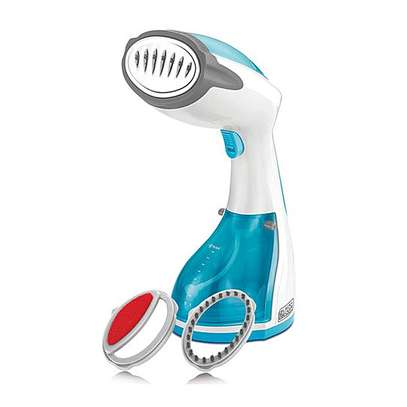 Black & Decker HST1200-B5 – 1200W Hand Held Garment Steamer – Blue & White image 1