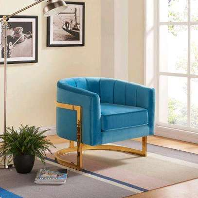 Blue accent chairs for sale in Nairobi Kenya/Classic single seater sofa image 1