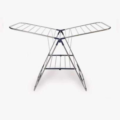 Foldable clothes drying rack. image 4