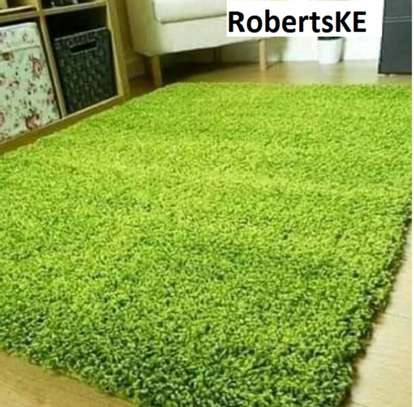 turkish green shaggy carpet non-skid 5by8 image 1