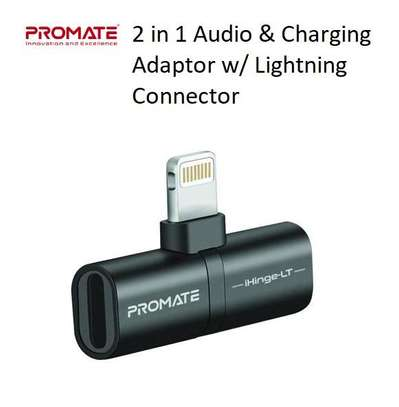 Promate 2-in-1 Audio & Charging Adaptor with Lightning Connector image 3