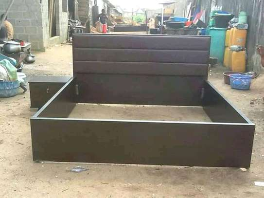 Beautiful Simple Quality 5by6 Hardwood Bed image 1