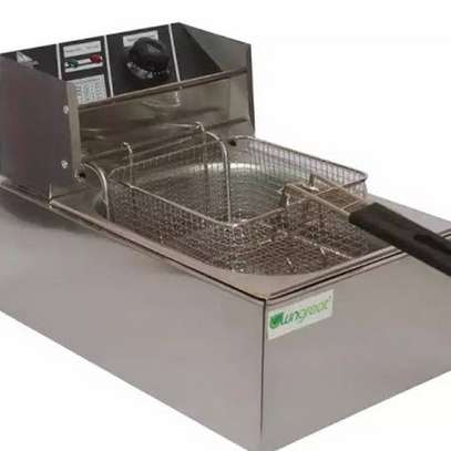 Nunix 6L Commercial Single Stainless Steel Deep Fryer image 3