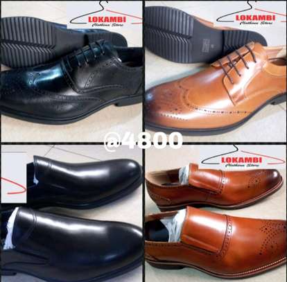 Leather ltalian official shoes