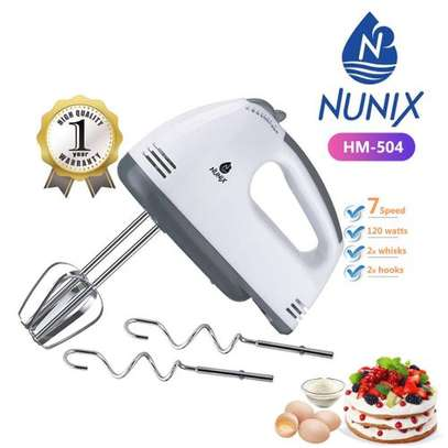 Nunix 7-Speed Portable Hand Mixer image 1