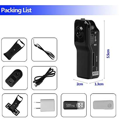 World Smallest HD Nanny Camera With Live Stream Over Web And Smart Phones -Black image 4