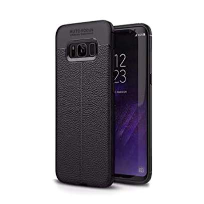 Auto Focus Leather Pattern Soft TPU Back Case Cover for Samsung S8/S8 Plus image 2