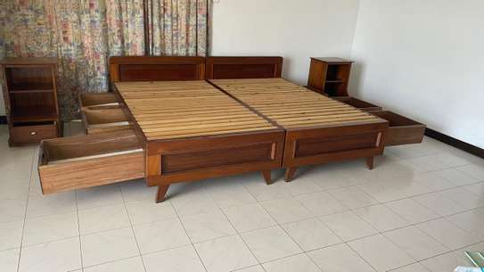 Super KING Size Bed With 2 Night Stands image 5