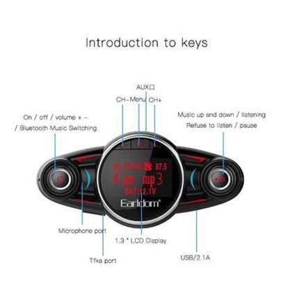 Earldom M30 Car FM Transmitter MP3+Charger+Aux V4.0 Bluetooth Modulator image 3