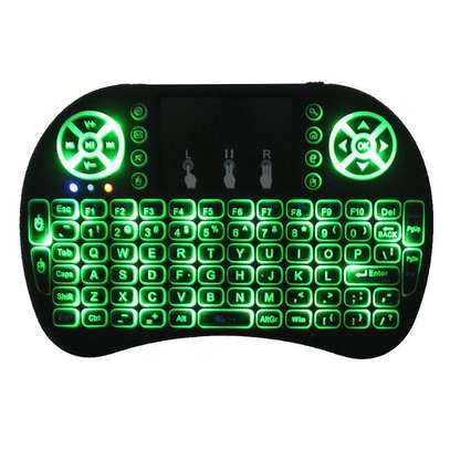 Wireless Mini Keyboard with Mouse Touchpad and Back-light for Android Box/ Smart TV/ Laptop - Black image 3
