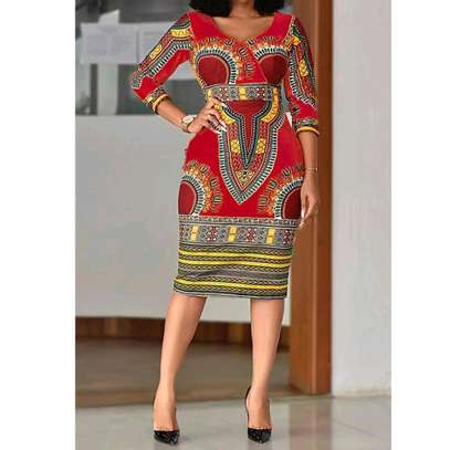African Print Dress image 3