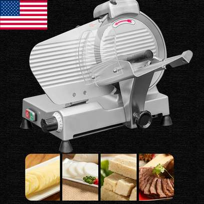 Electric Meat Slicer Cutter 10 In. Stainless Steel 240-Watts Semi-Automatic image 3
