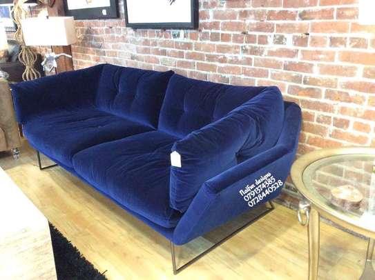 Classic three seater sofas for sale in Nairobi Kenya/blue velvet sofas/unique sofas image 1
