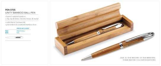 Branded Bamboo Pen Pencil Giftset image 1