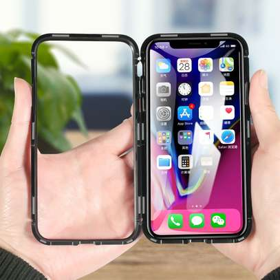 Magnetic Case For iPhone 8 8 Plus With Metal Frame, Glass Back image 8