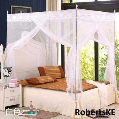 white four stand mosquito net image 1