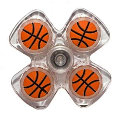 Generic Crystal Fidget Spinner Stress Reliever Basketball Print