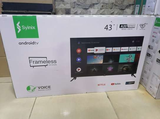 Syinix 43 inch smart android 43A1s frameless TV image 1