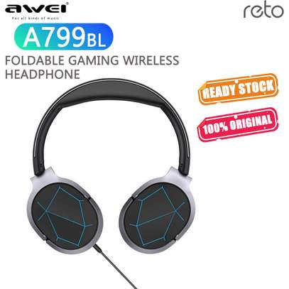 Awei A799BL Foldable Wireless Bluetooth Gaming Headphones With Mic image 6