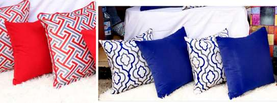 throw pillows blue and patterned image 1
