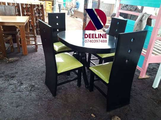 Black 4 Seater Dining Table sets image 4